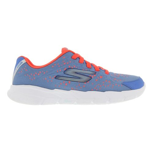 Womens Skechers GO Fit 2 - Presto Running Shoe - Blue / Coral 8.5