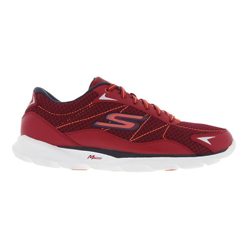 Mens Skechers GO Run Sonic 2 Running Shoe - Red / Navy 8.5