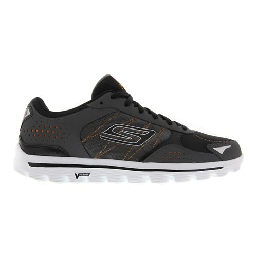 Mens Skechers GO Walk 2 - Flash DNA Walking Shoe - Charcoal / Orange 7.5 ...