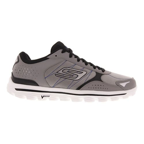 Mens Skechers GO Walk 2 - Flash DNA Walking Shoe - Gray / Black 8 ...