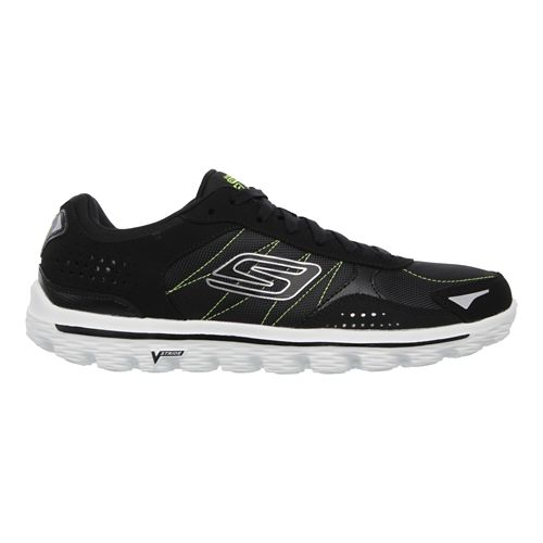 Mens Skechers GO Walk 2 - Flash DNA Walking Shoe - Black / Lime 12 ...