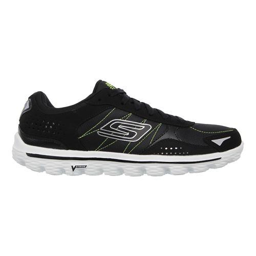 Mens Skechers GO Walk 2 - Flash DNA Walking Shoe - Black / Lime 6.5 ...