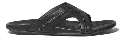 Mens OluKai Mea Ola Slide Sandals Shoe - Black/Black 13