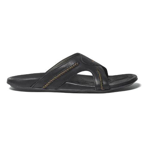 Mens OluKai Mea Ola Slide Sandals Shoe - Black/Black 14
