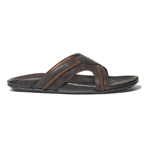 Mens OluKai Mea Ola Slide Sandals Shoe - Dark Java/Dark Java 14