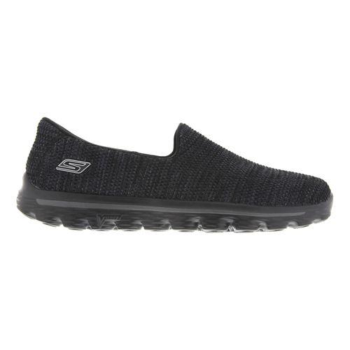 Mens Skechers GO Walk 2 - FitKnit Walking Shoe - Black / Gray 12