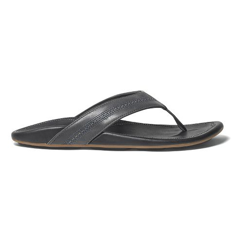 Mens OluKai Maka Sandals Shoe - Dark Shadow/Black 10