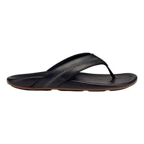 Mens OluKai Maka Sandals Shoe - Dark Shadow/Black 7