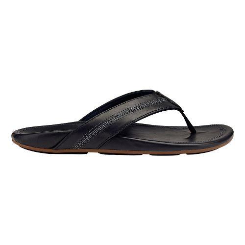 Mens OluKai Maka Sandals Shoe - Charcoal/Dark Java 9