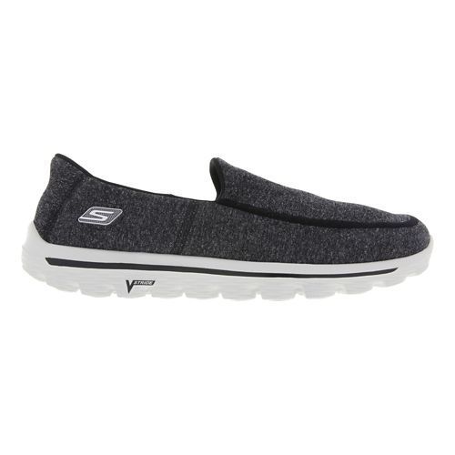Mens Skechers GO Walk 2 - Super Sock Walking Shoe - Black 10.5