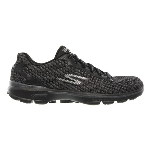 Mens Skechers GO Walk 3 - Fit Knit Walking Shoe - Black 10.5