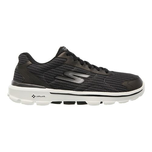 Mens Skechers GO Walk 3 - Fit Knit Walking Shoe - Black / White 10 ...