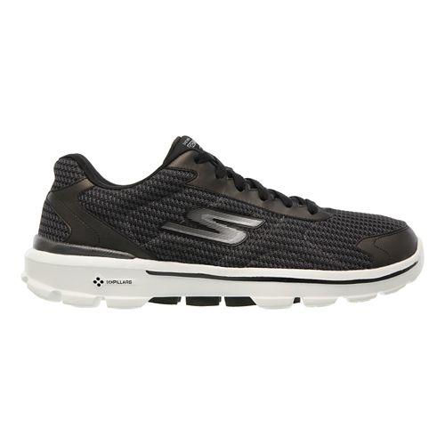 Mens Skechers GO Walk 3 - Fit Knit Walking Shoe - Black 10.5