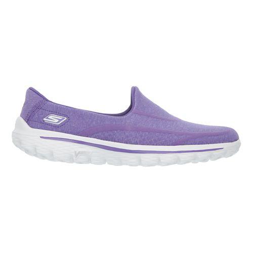 Womens Skechers GO Walk 2 - Super Sock Walking Shoe - Purple 5.5