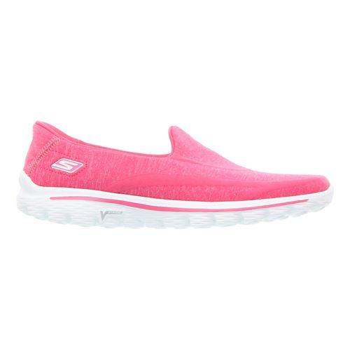 Womens Skechers GO Walk 2 - Super Sock Walking Shoe - Pink 10