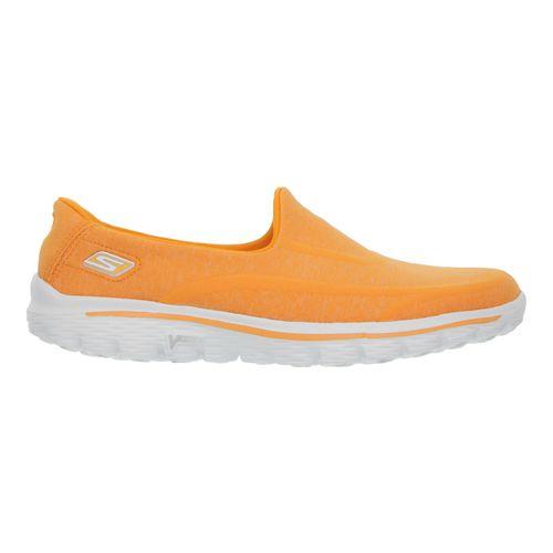 Womens Skechers GO Walk 2 - Super Sock Walking Shoe - Orange 5