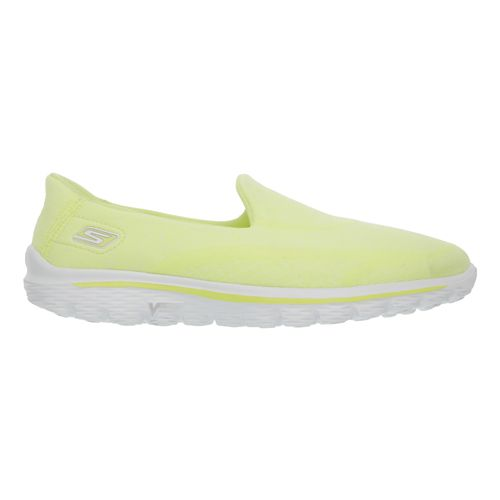 Womens Skechers GO Walk 2 - Super Sock Walking Shoe - Yellow 10