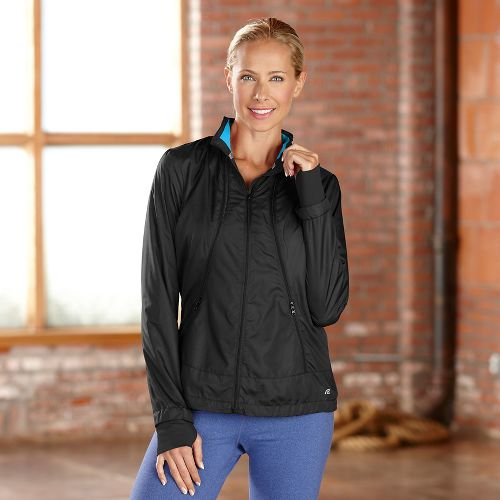 Womens R-Gear Zip To It Lightweight Jackets - Black/Blue Lagoon XS