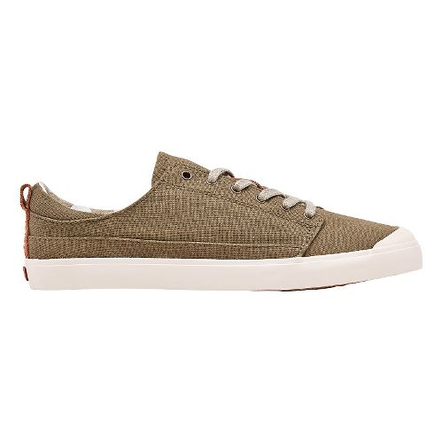 Womens Reef Walled Low Casual Shoe - Olive 10