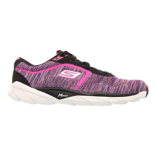 Womens Skechers GO Run Bolt Running Shoe - Black / Multi 7.5