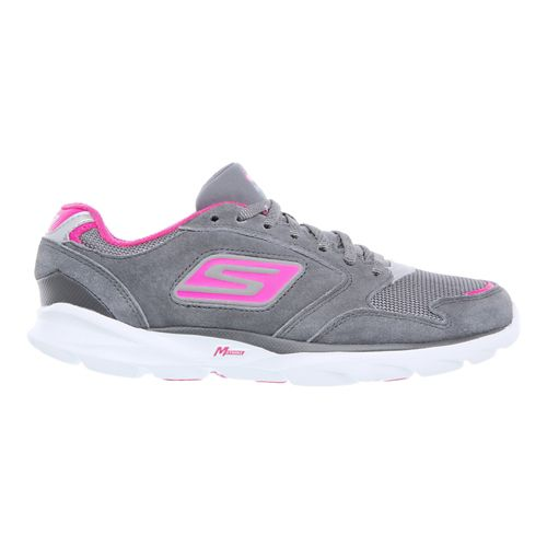Womens Skechers GO Run Sonic - Victory Running Shoe - Charcoal / Hot Pink 7.5 ...