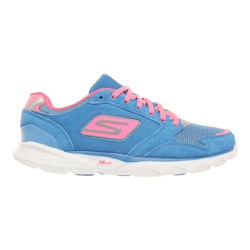 Womens Skechers GO Run Sonic - Victory Running Shoe - Blue / Hot Pink 7.5 ...