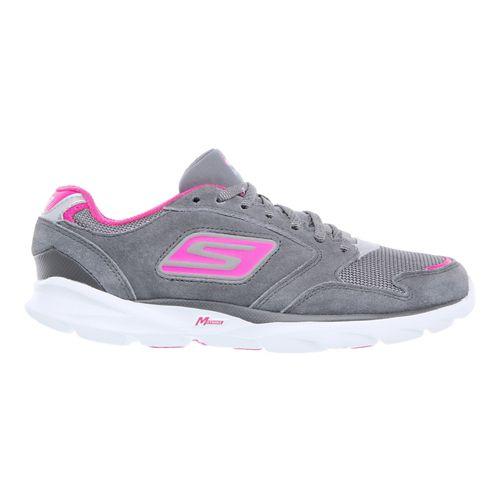 Womens Skechers GO Run Sonic - Victory Running Shoe - Charcoal / Hot Pink 7.5 ...