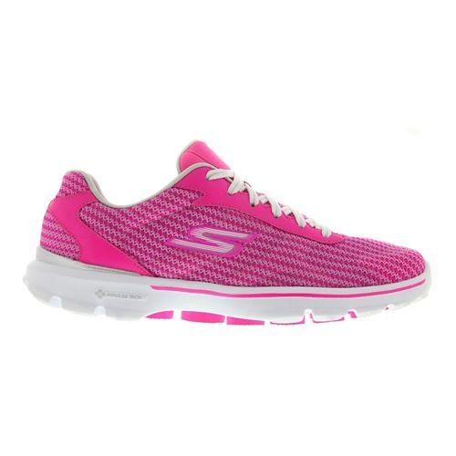 Womens Skechers GO Walk 3 - FitKnit Walking Shoe - Hot Pink 7