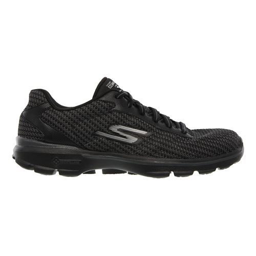 Womens Skechers GO Walk 3 - FitKnit Walking Shoe - Black/White 6