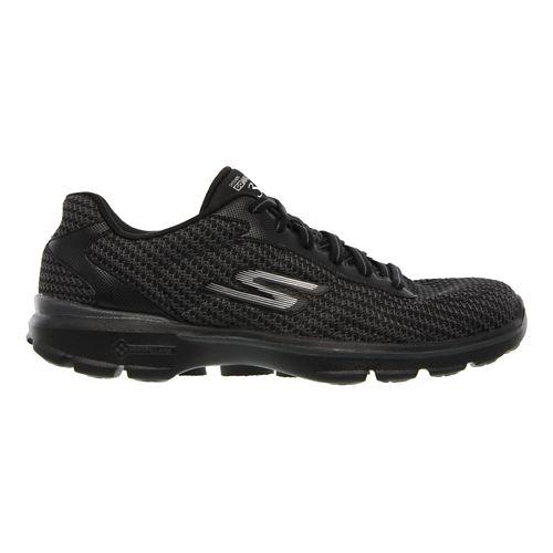Womens Skechers GO Walk 3 - FitKnit Walking Shoe - Black/White 6.5