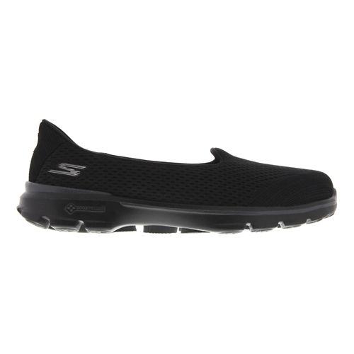 Womens Skechers GO Walk 3 - Insight Walking Shoe - Black 8.5