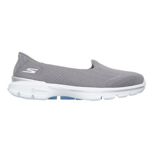 Womens Skechers GO Walk 3 - Insight Walking Shoe - Gray 8
