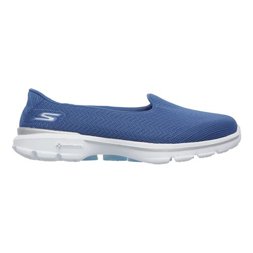 Womens Skechers GO Walk 3 - Insight Walking Shoe - Blue 8.5