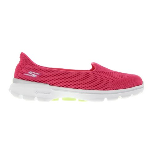 Womens Skechers GO Walk 3 - Insight Walking Shoe - Hot Pink 6.5