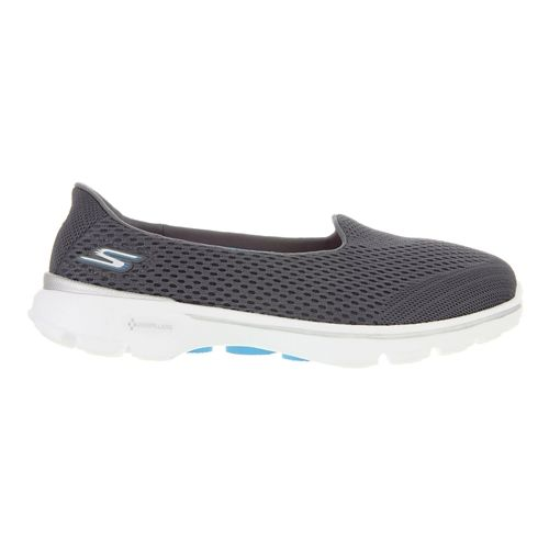 Womens Skechers GO Walk 3 - Insight Walking Shoe - Charcoal 5