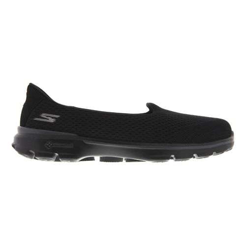 Womens Skechers GO Walk 3 - Insight Walking Shoe - Black 5.5