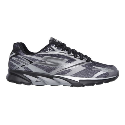 GO Run 4 - Reflective Running Shoe - Black / Sliver 7.5