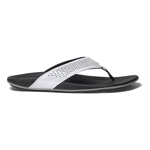 Mens OluKai Kekoa Sandals Shoe - White/Black 9