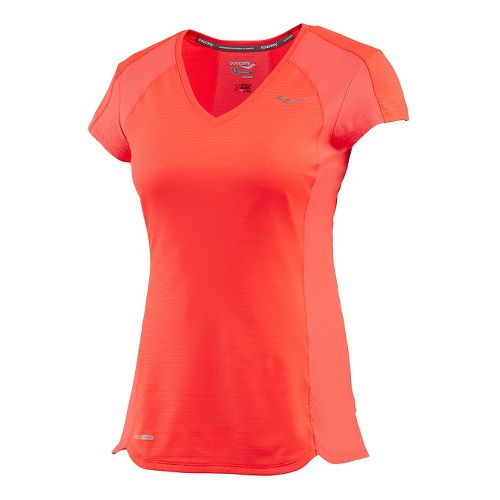 Womens Saucony Speed of Lite Short Sleeve Technical Tops - Vizipro Electric S