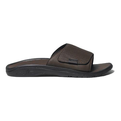 Mens OluKai Kekoa Slide Sandals Shoe - Dark Java/Dark Java 10