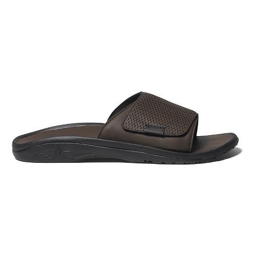 Mens OluKai Kekoa Slide Sandals Shoe - Dark Java/Dark Java 11