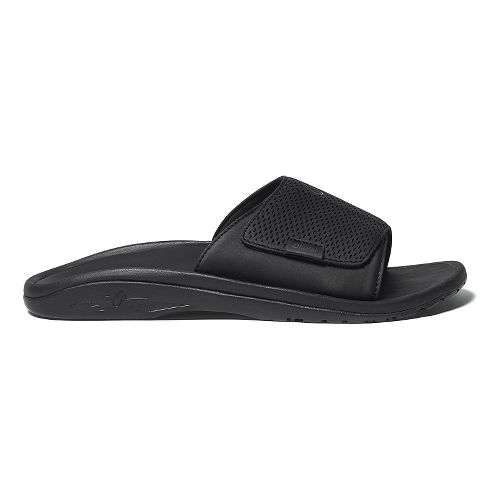 Mens OluKai Kekoa Slide Sandals Shoe - White/Black 15