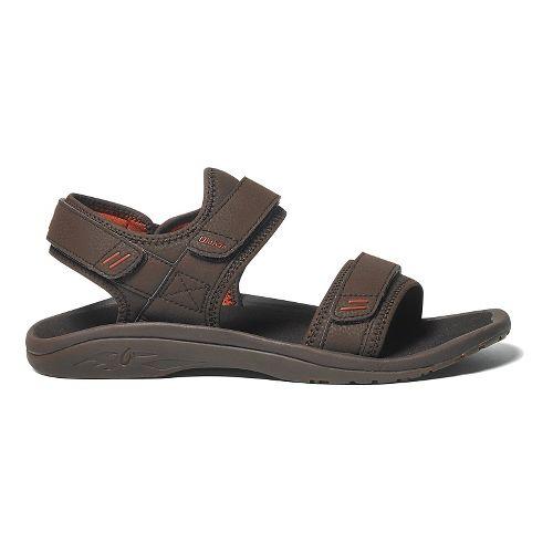 Mens OluKai Hokua Pahu Sandals Shoe - Dark Java/Ember 8