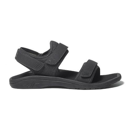 Mens OluKai Hokua Pahu Sandals Shoe - Black/Rosin 14