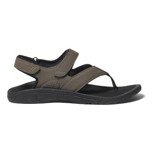 Mens OluKai Ohana Pahu Sandals Shoe - Kona/Black 12