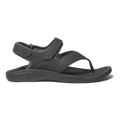 Mens OluKai Ohana Pahu Sandals Shoe - Black/Dark Shadow 8