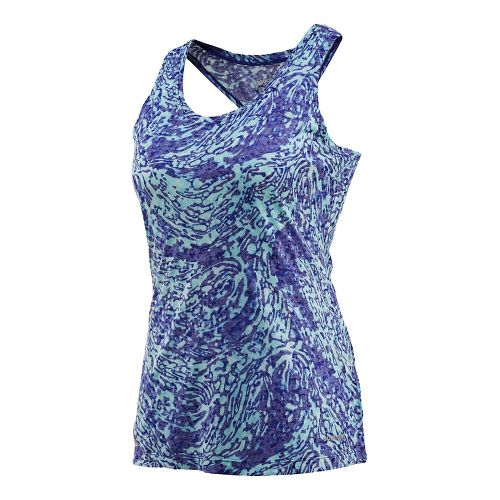 Womens Saucony Daybreak Tank Technical Tops - Twilight L
