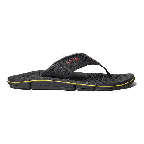 Mens OluKai Kia'I Kei Sandals Shoe - Black/Black 11