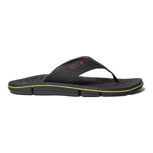 Mens OluKai Kia'I Kei Sandals Shoe - Black/Black 9