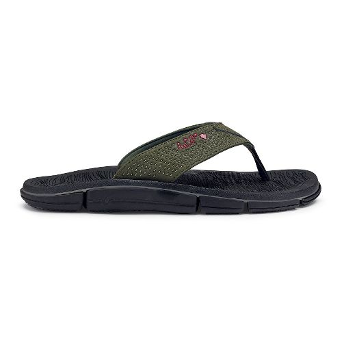 Mens OluKai Kia'I Kei Sandals Shoe - Kona/Black 11